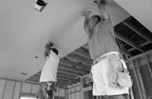 Install Drywall Ceiling